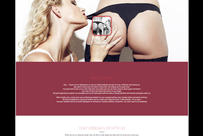 Plantilla de sitio web de camgirls - Kate & Laura